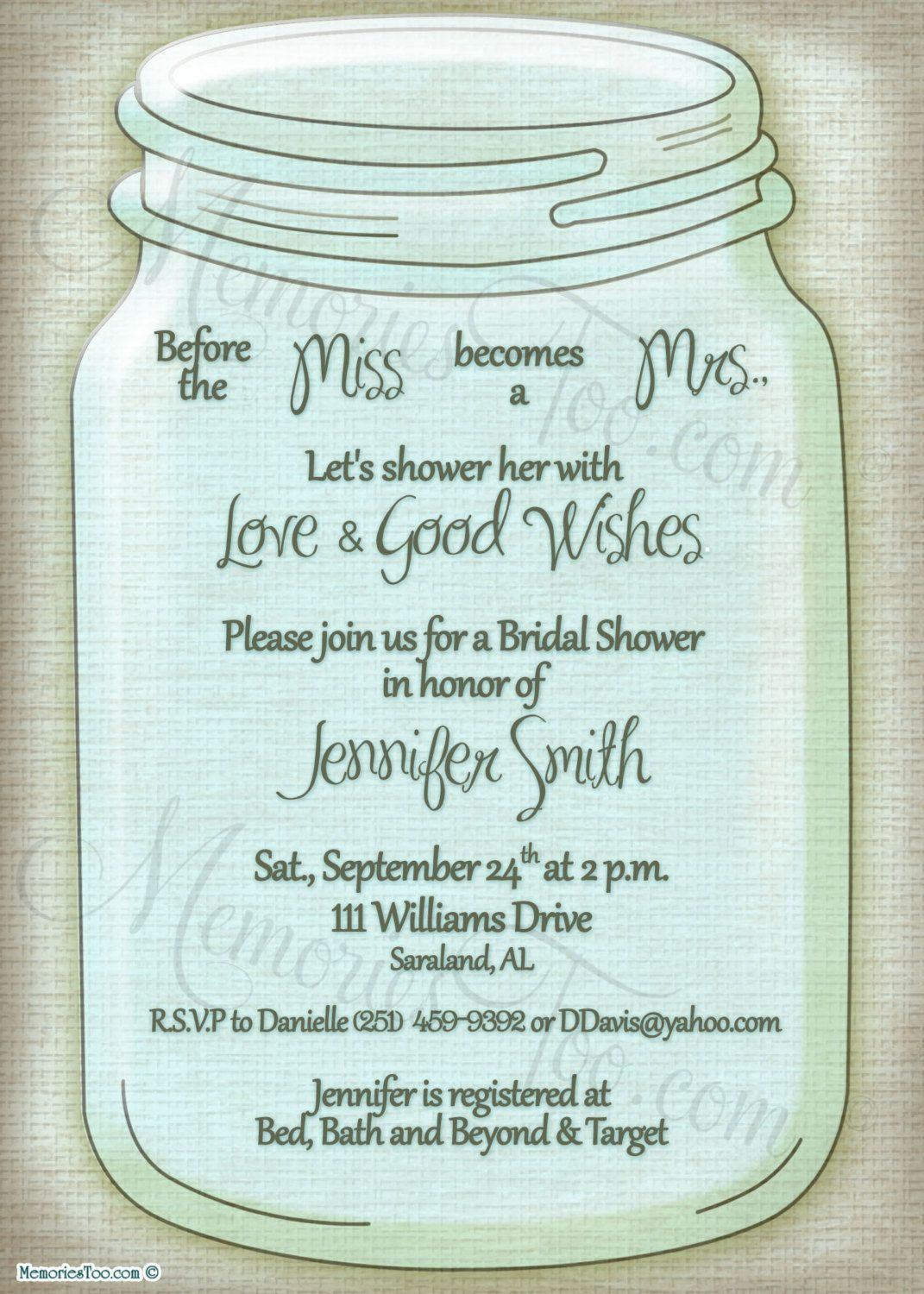 mason jar wedding invitations style and color scheme mason jar wedding invitation shower invitation