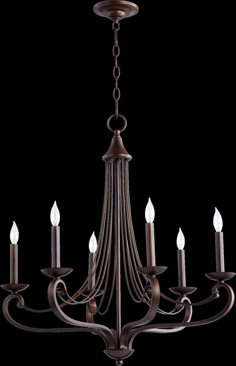 Lariat 6-Light Chandelier Oiled Bronze