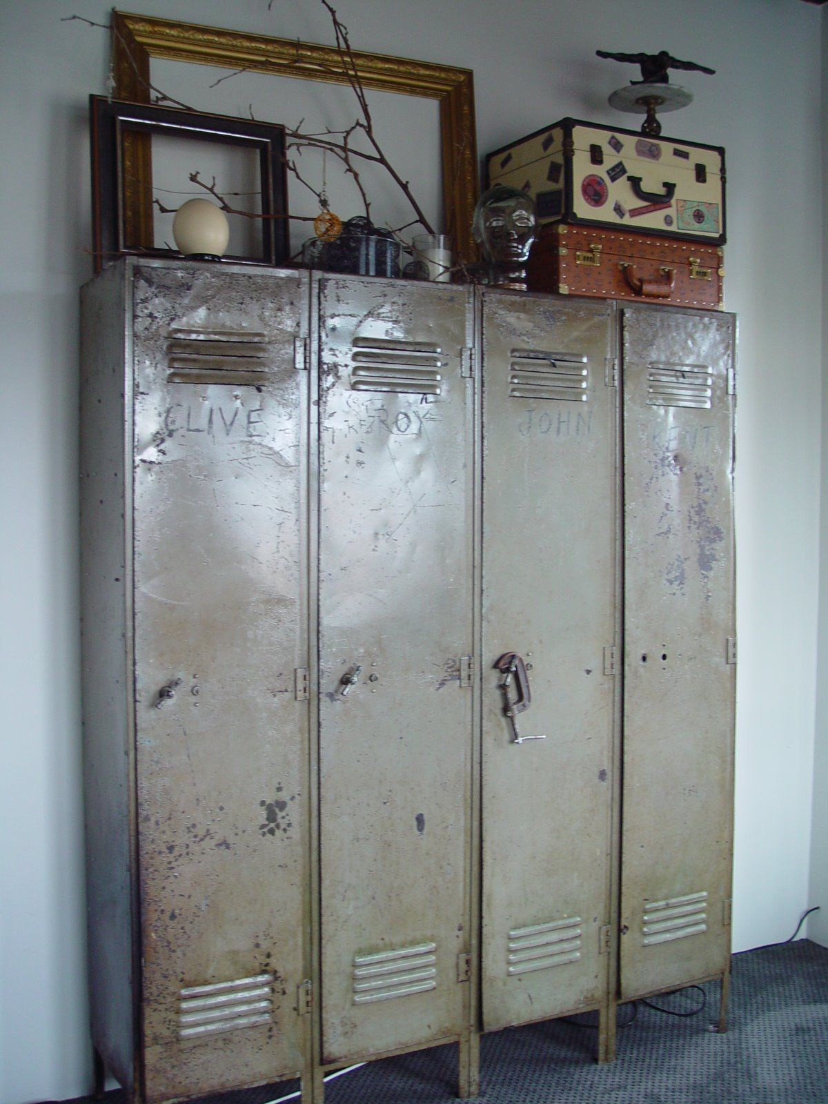 Industrial Wardrobes Lockers Industrial Gym Storage Tall Locker Cabinet Rustic