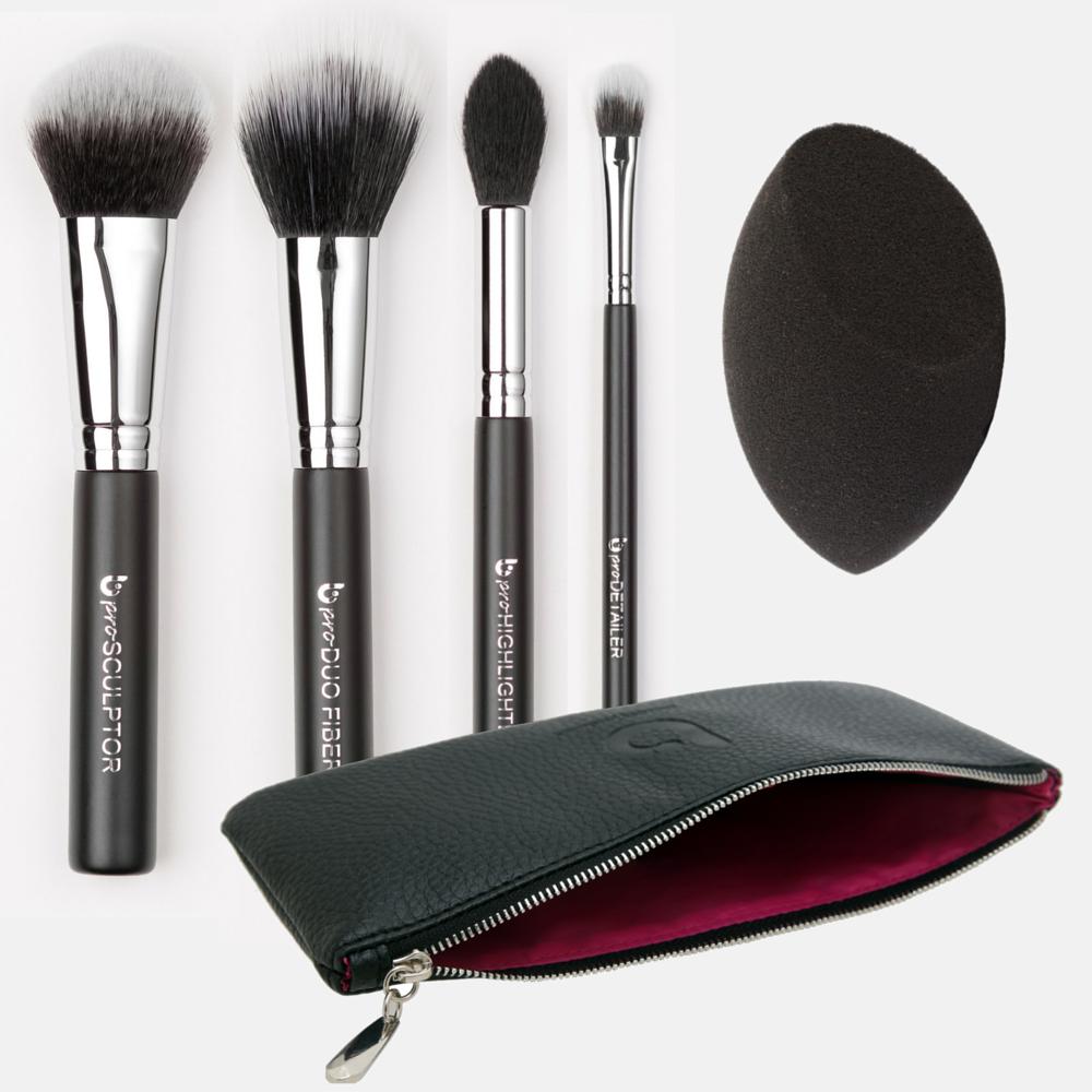 pro Contour & Highlighting Makeup Brush Set with Case