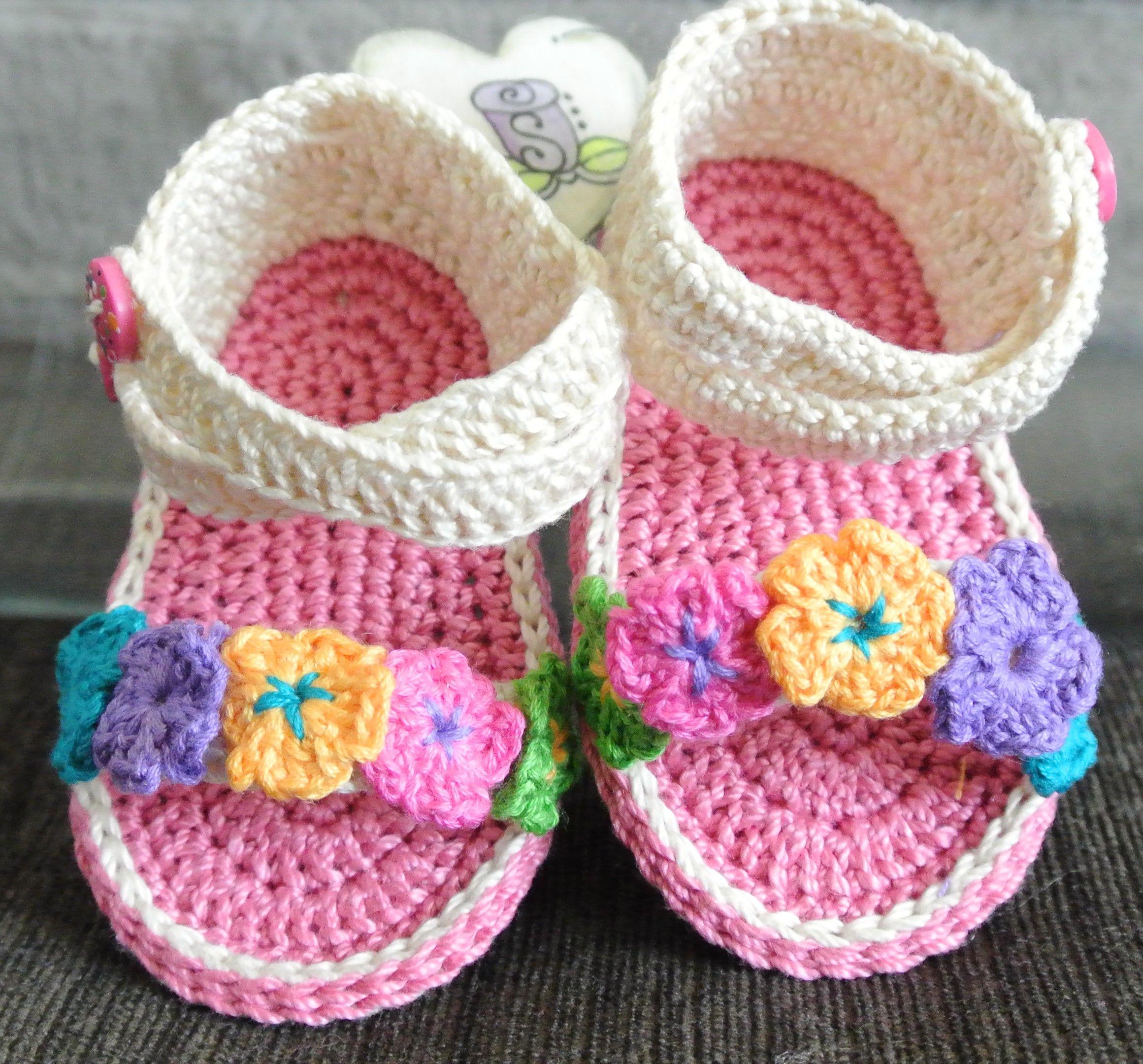 2ea43493 Sandalias tejidas niña Sandalias Para Bebé De Ganchillo, Zapatos Tejidos Para  Bebe, Zapatillas De
