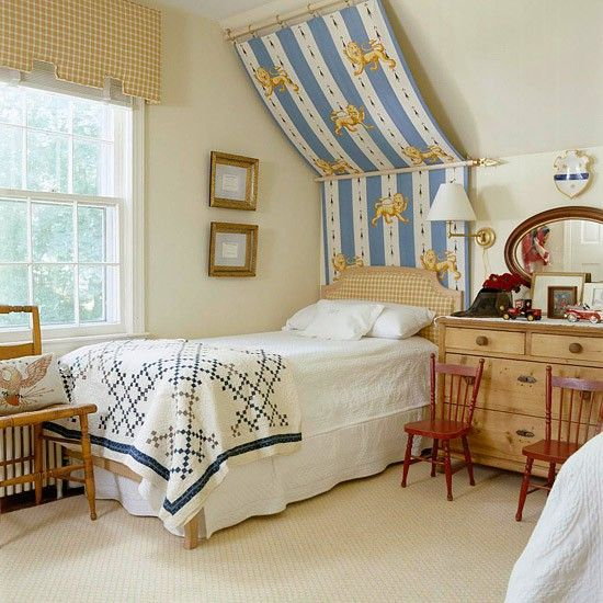 Schlafzimmer Mit Dachschräge Betthimmel