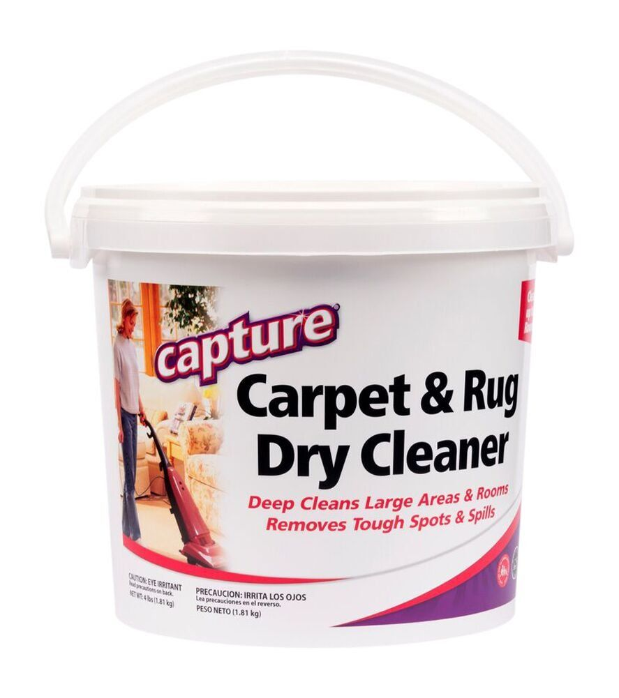 Capture Carpet Dry Cleaner Powder 4 Lb Deodorize Allergens Stain Smell Moisture From Rug Furniture In 2020 Carpet Cleaning Hacks Dry Carpet Cleaning Rugs On Carpet