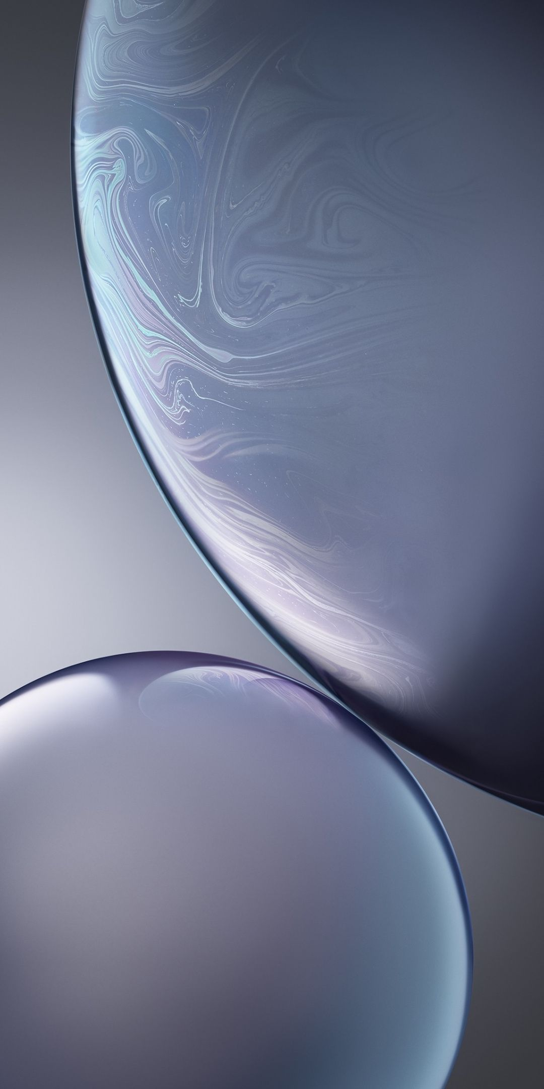 Bubbles, gray, iPhone XR, iOS 12, surface, 1080x2160 wallpaper | Abstract, digital art Wallpapers