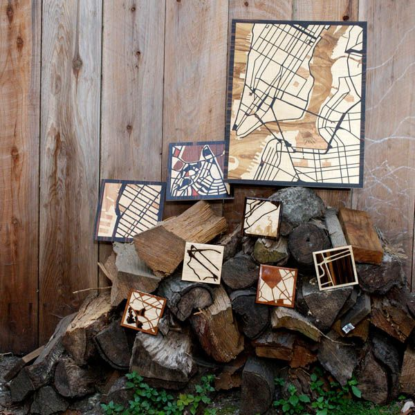 Laser-Cut Exotic Hardwoods Shaping Your Favorite Woodcut Maps - http://freshome.com/2012/07/05/laser-cut-exotic-hardwoods-shaping-your-favorite-woodcut-maps/