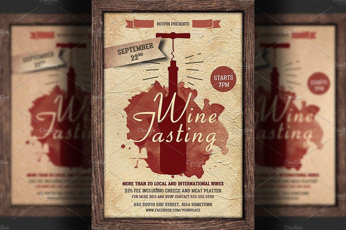 Wine Tasting Flyer Template Flyer, Flyer template, Wine