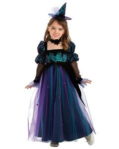 Midnight Crystal Witch Child Costume 295683 Girl Witch Costume Kids Costumes Girls Fun Fancy Dress