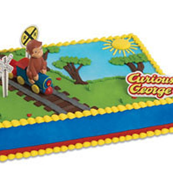 Curious George Train Cake Kit 4 Pcs Baking