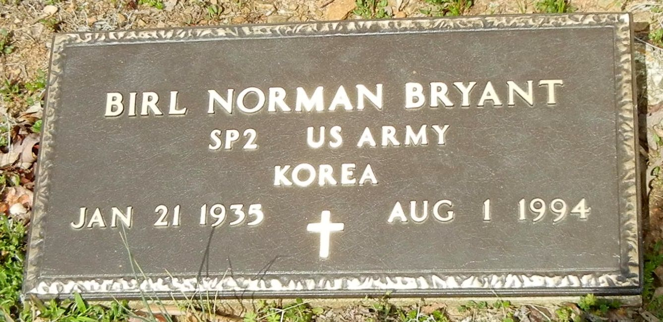 Birl Norman Bryant (1935 - 1994) - Find A Grave Photos