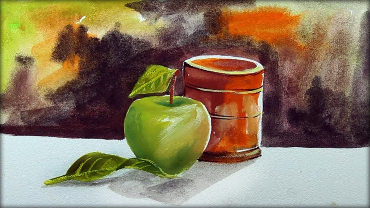 still life painting with