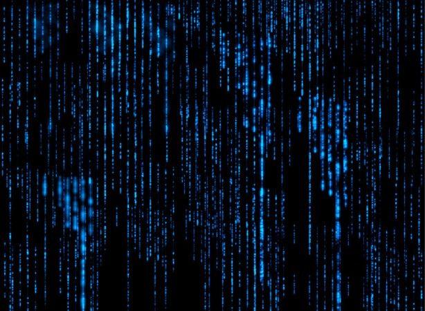 Blue Matrix Widescreen Background Wallpaper | Wallpaper ...