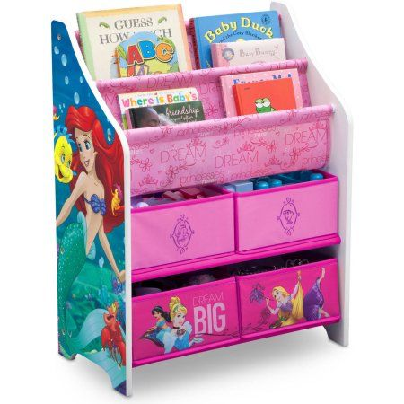 Disney Princess Book Toy Organizer By Delta Children Multicolor Toy Organization Disney Princess Books Disney Princess Room