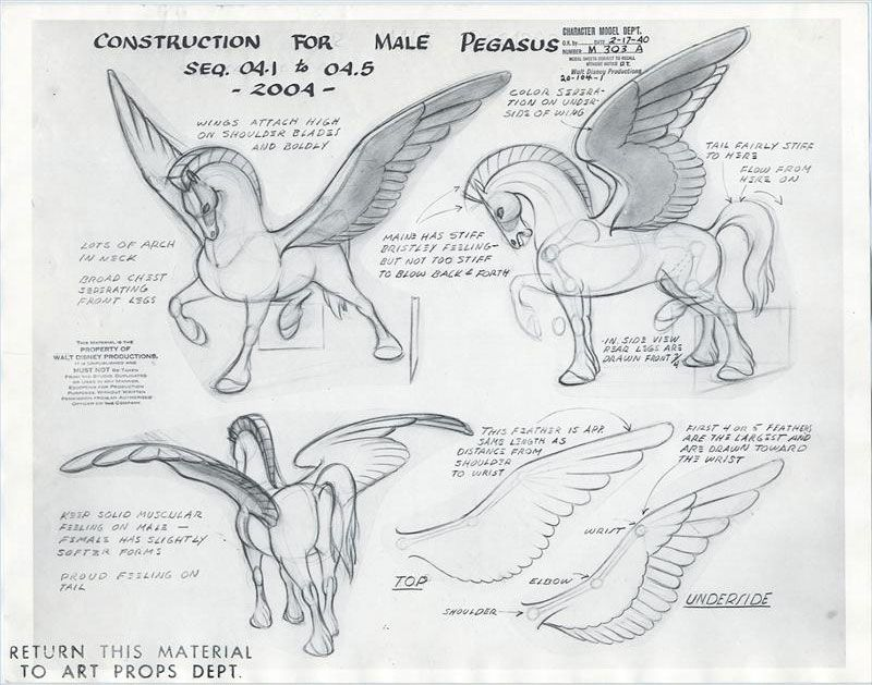 Original Model Sheets For The Pegasus Family In The Pastoral