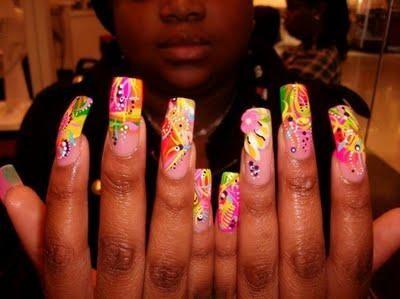 ghetto nails design