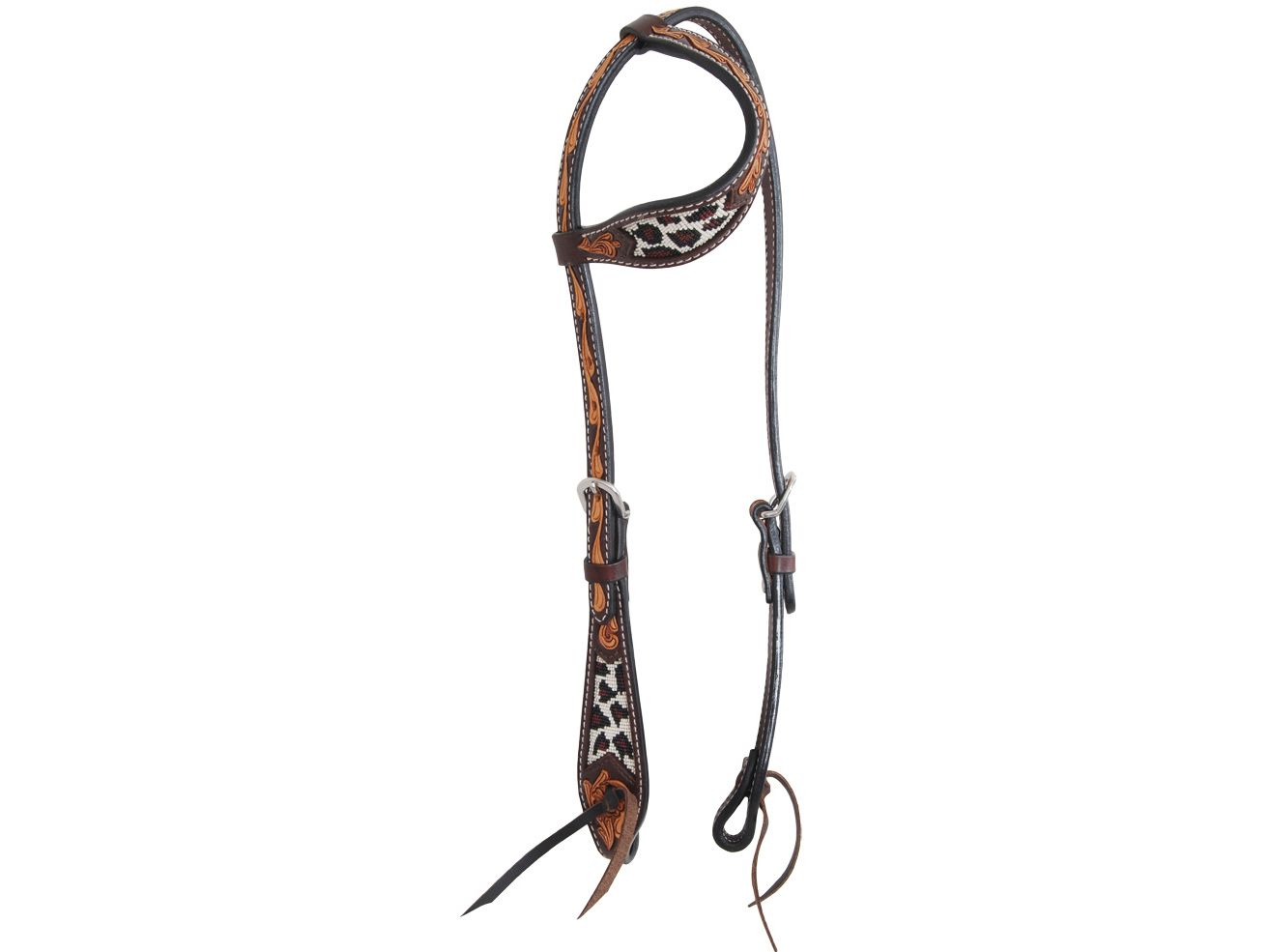 Safari Beaded Slip Ear Horse Headstall Item
