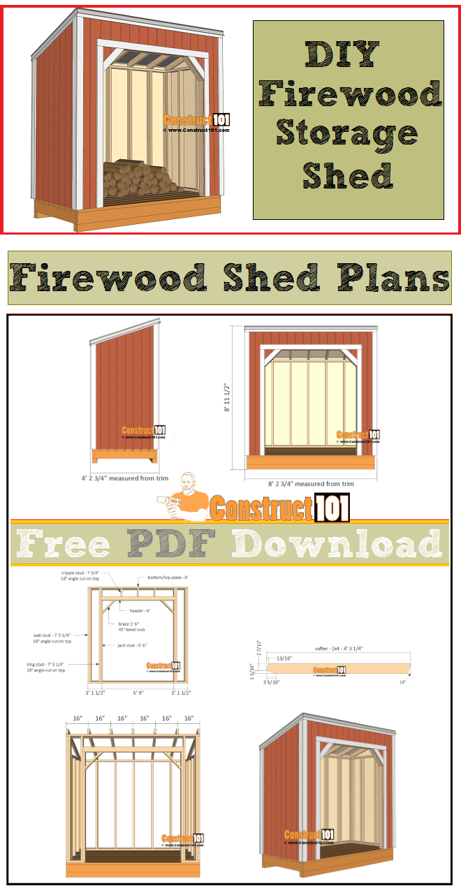 Firewood Shed Plans 4x8 PDF Download