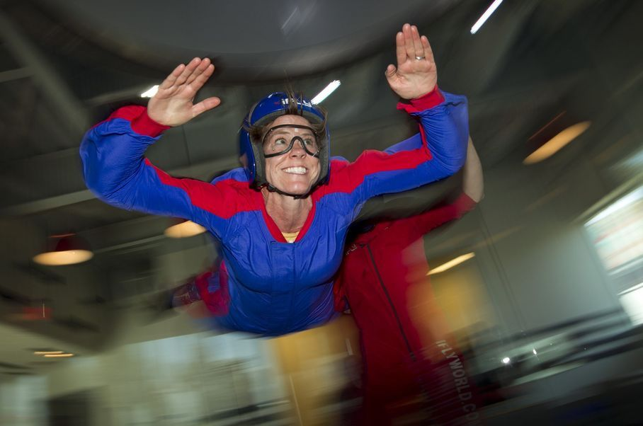 Would you try indoor #skydiving? #Fitness writer Pam LeBlanc did