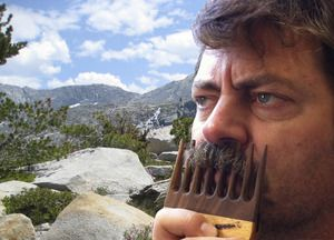 Nick Offerman's official handmade mustache comb.  2nd edition. $75