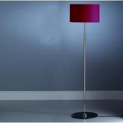 Photo of Tecnolumen Schnepel Stlws 4 floor lamp, red linen shade, laminated on clear carrier film Tecnolume