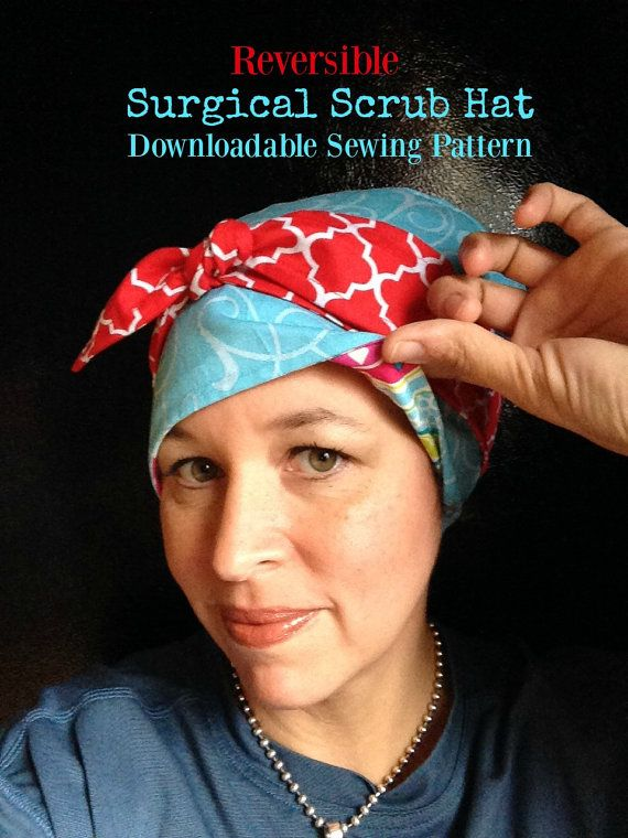 Scrub Hat Sewing Pattern Diy Reversible Lined Surgical Scrub Etsy In 2020 Hat Patterns To Sew Scrub Hats Scrub Hat Patterns