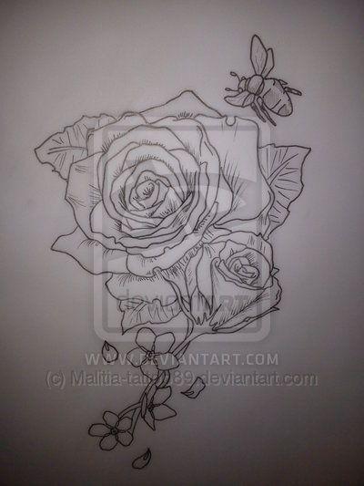 Gardenia And Rose Flower Black And White Gardenia Tattoo Flower