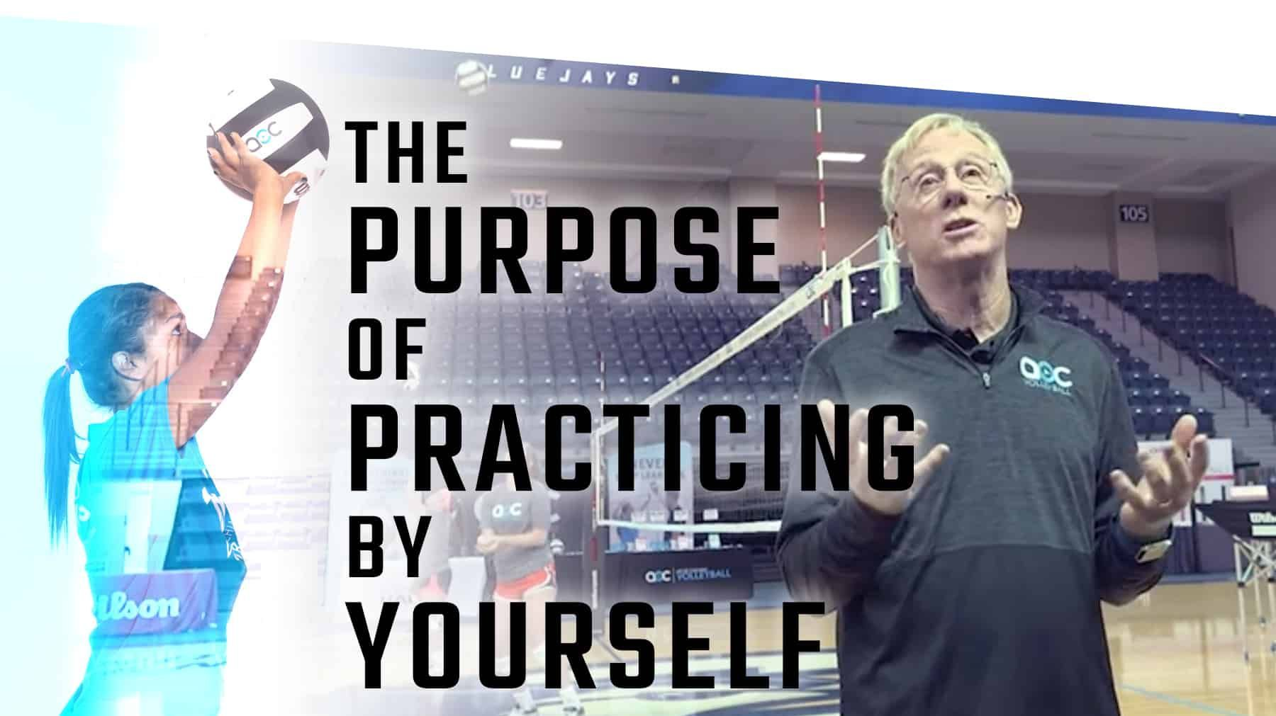 The Purpose Of Practicing By Yourself The Art Of Coaching Volleyball Coaching Volleyball Volleyball Practice Volleyball Training