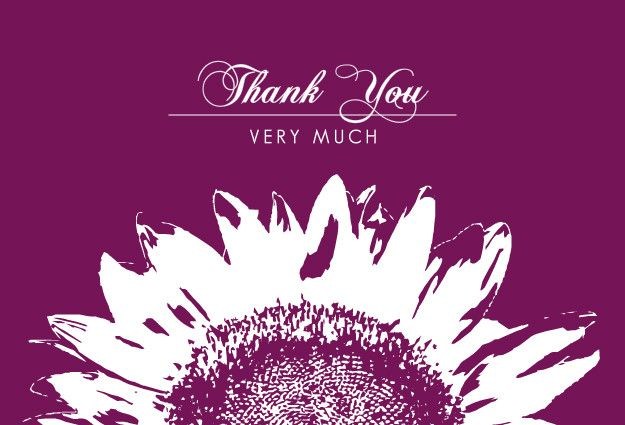 White Sunflower Thank You Card By Invite Shop  Girly Stuff And
