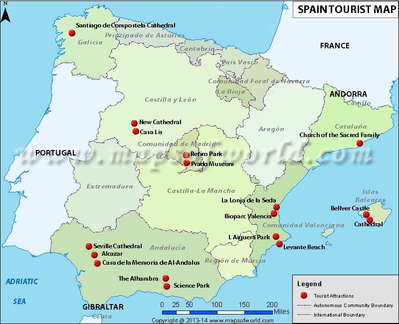 Map Of Spain For Tourists.Latest News Spain Expects Another Bumper Year For Tourism Travel