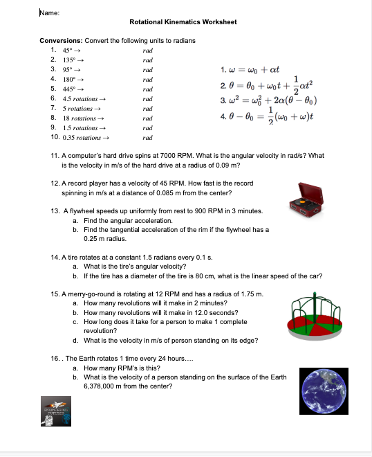 Circular Motion Worksheet Answer Key - worksheet