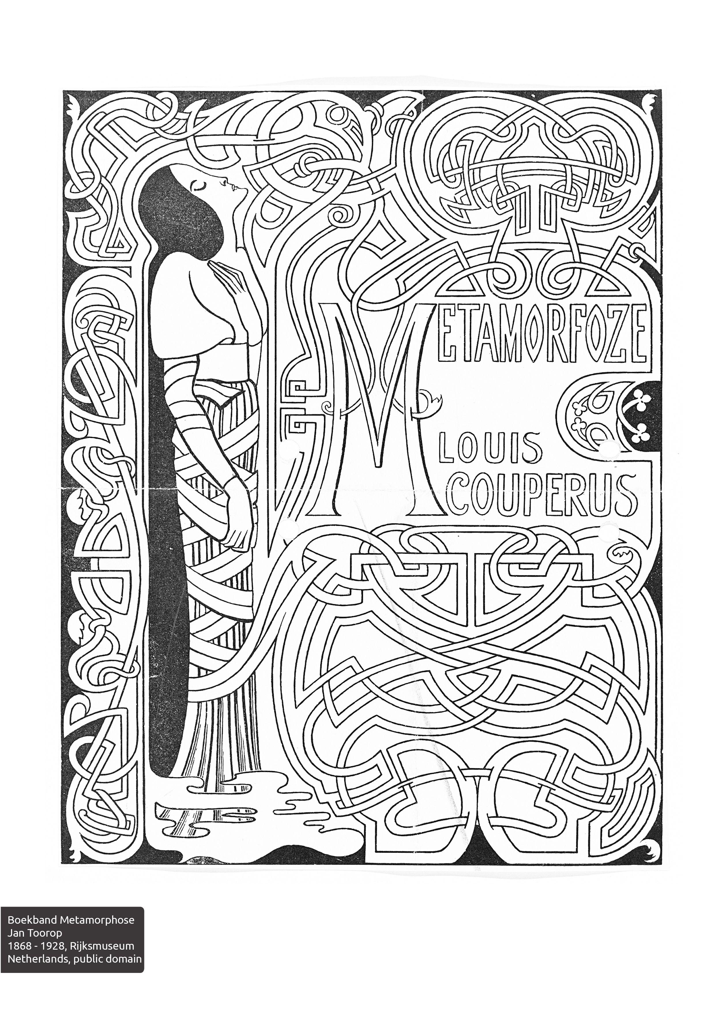 Colorourcollections With An Art Nouveau Colouring Book Art Nouveau Illustration Book Design Book Art