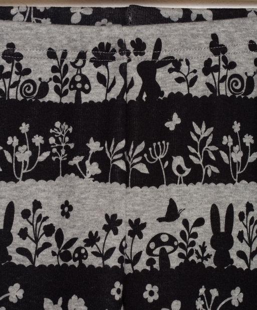 Silhouette Print Fleece Leggings H GREY | Bossini