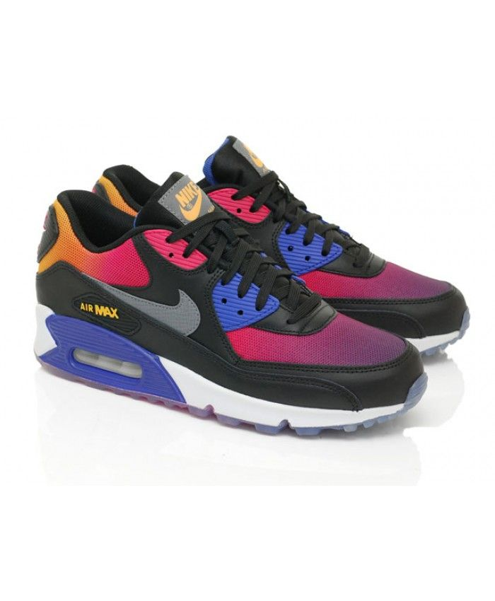 80a13932818 Nike Air Max 90 Rainbow Black Purple Pink Cheap