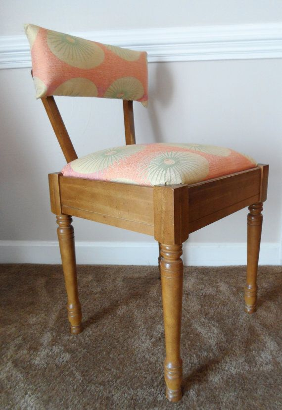 Mid Century Modern Singer Sewing Chair By