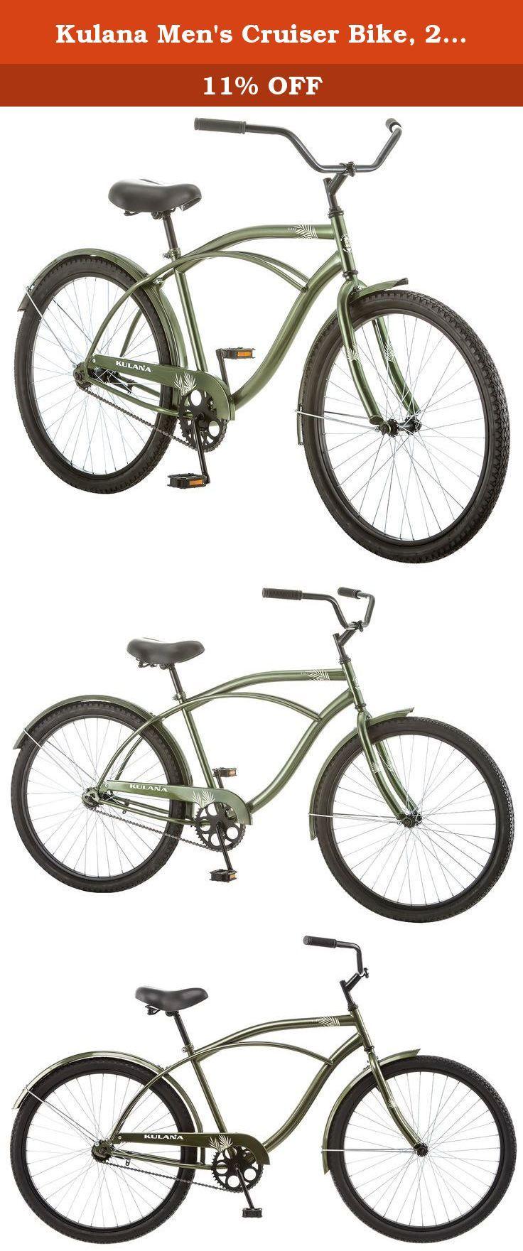 Kulana Men S Cruiser Bike 26 Inch Green The Best Value On The