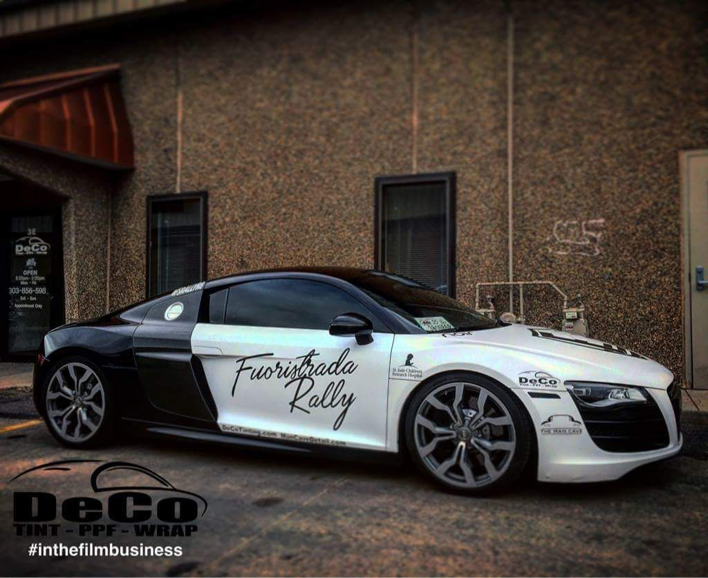 Audi wrapped up nice in 3m 1080 satin pearl white gloss