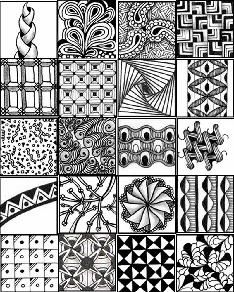 Line Art Printing And Design : Zentangle pattern sheets http gocraftsomething spot