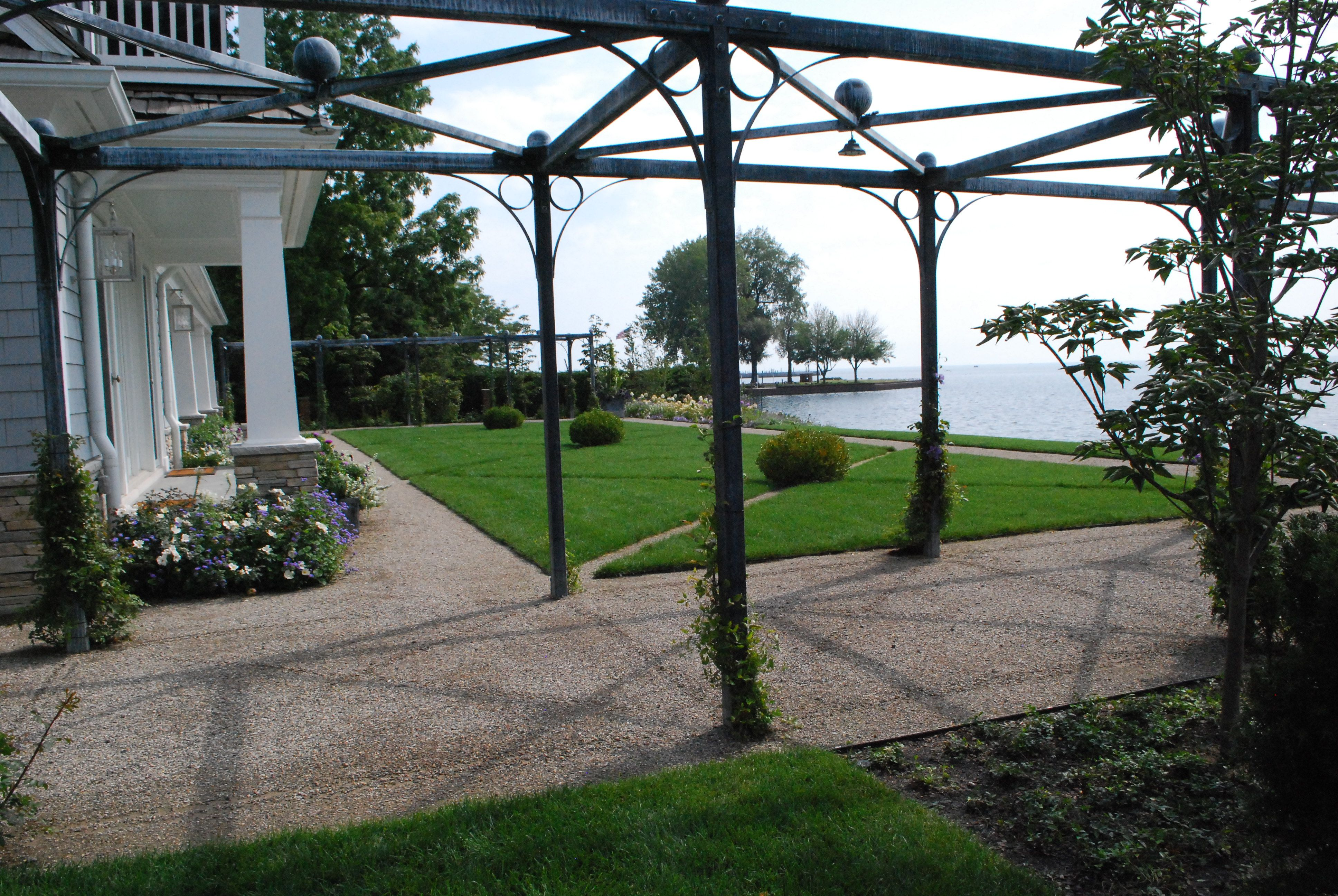 french style steel pergola | Pergolas & Arbors | Pinterest | Steel ...