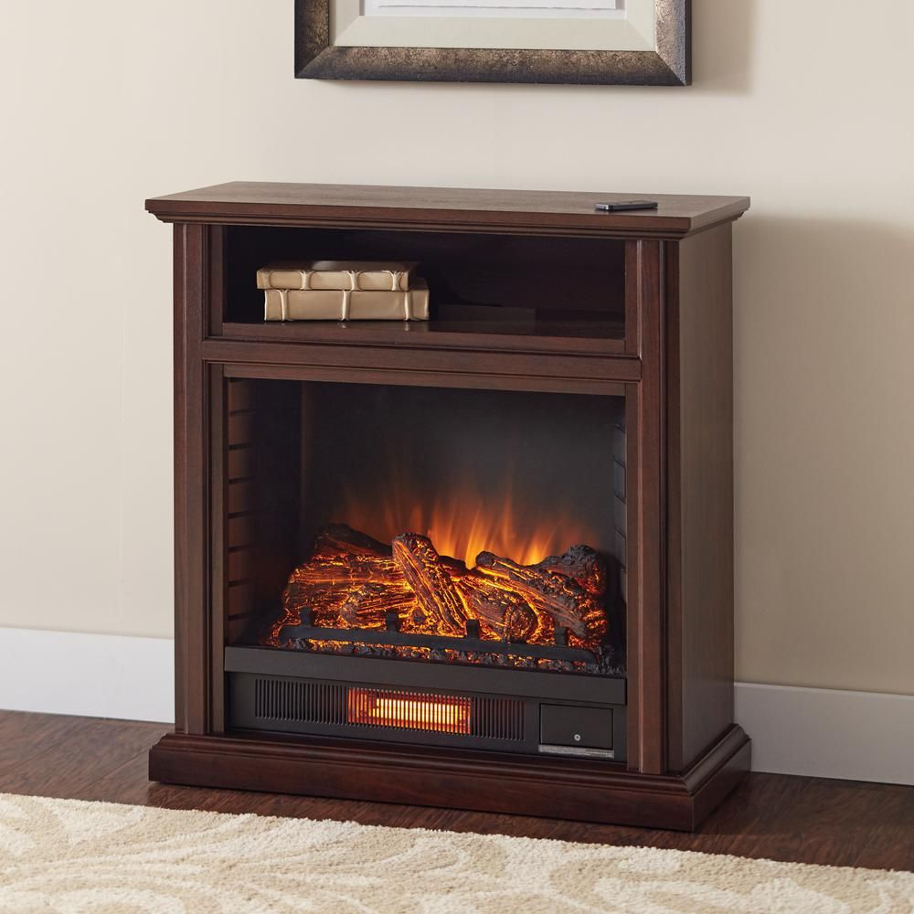 Artificial Fireplaces Albion 60 In Freestanding Infrared Electric Fireplace Tv Stand In