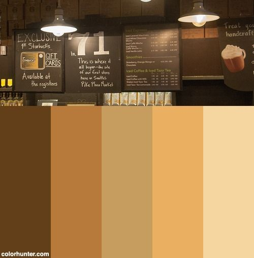 Starbucks Color Scheme Colorful Decor Interiors Paint Schemes