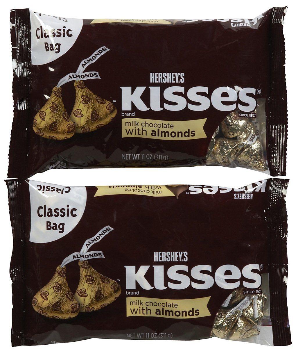 Hershey S Kisses Milk Chocolate W Almonds 2 11 Oz Free