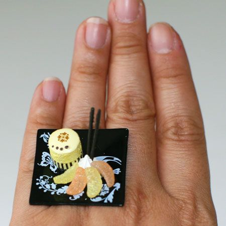 Kawaii Cute Miniature Food Ring Deluxe by fingerfooddelight, $10.00