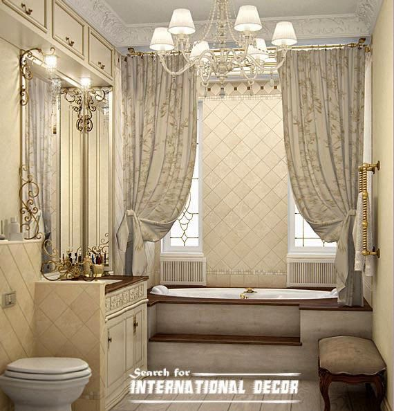 The luxury shower curtain can t be used alone they need for Luxury bathroom tile designs