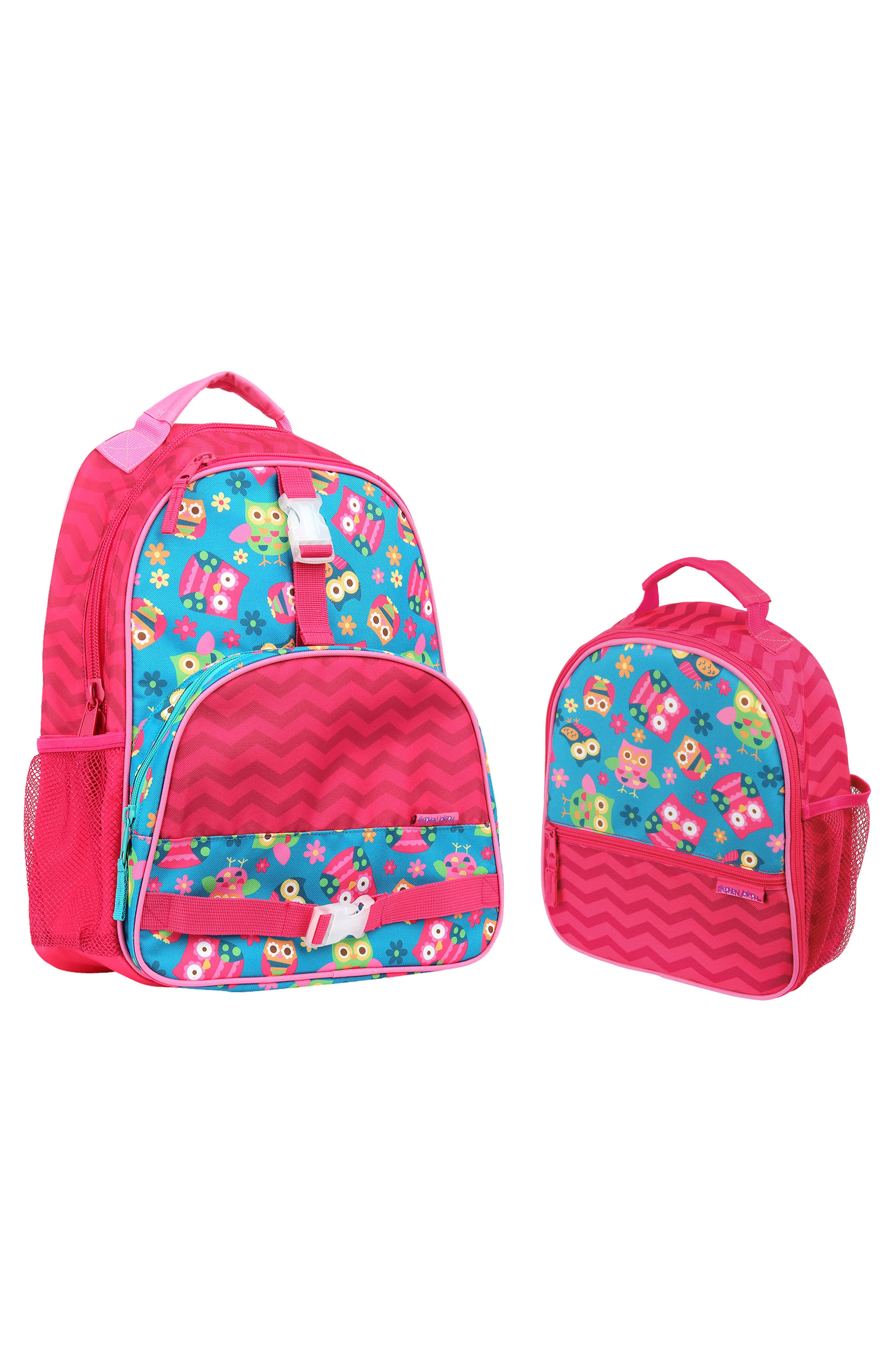 Stephen Joseph Girls Owl School Backpack and Lunch Box for Kids Book Bags