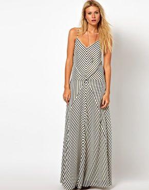 97865ba2a Vestido largo a rayas de ASOS   Some_thing to wear   Dresses ...