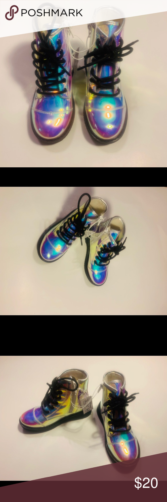 NWT The Children's Place Holographic Boots Size 11 Brand new