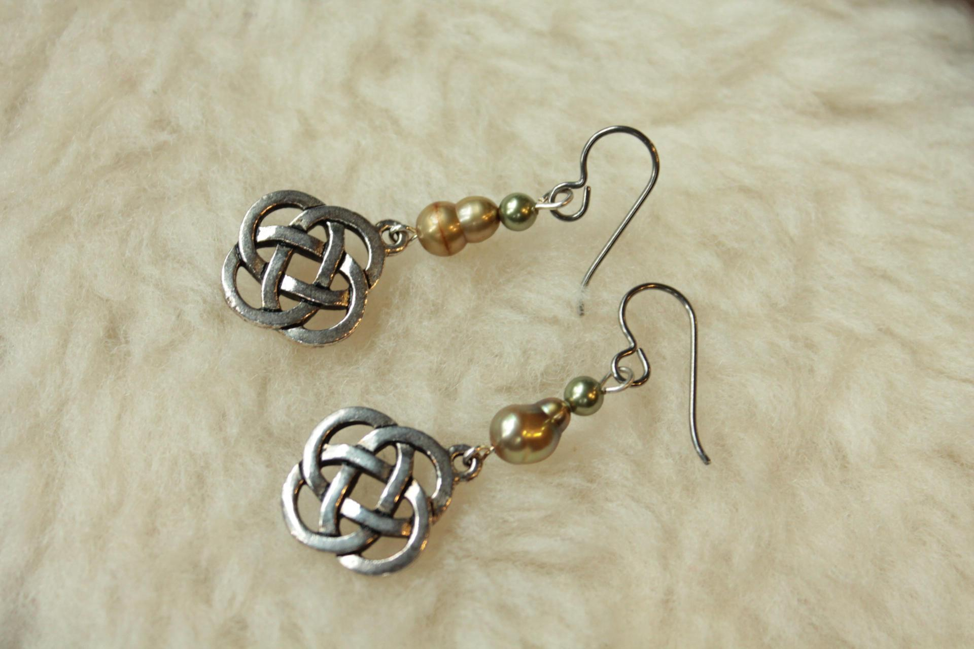 Celtic Knots Niobium Earrings Anium Surgical Steel Nickel Free And Hypoallergenic For Sensitive Ears