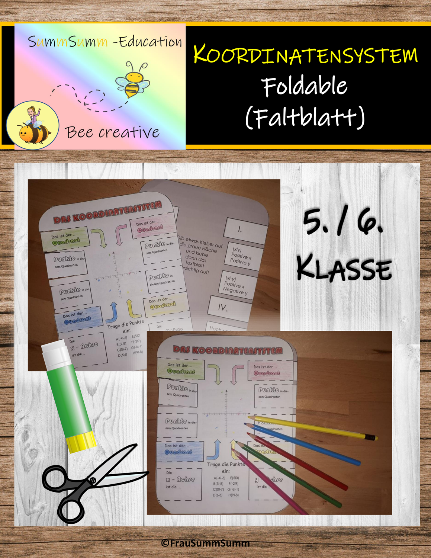 Das Koordinatensystem Faltblatt Foldable Unterrichtsmaterial Im Fach Mathematik In 2020 Faltblatt Mathematikunterricht Koordinaten