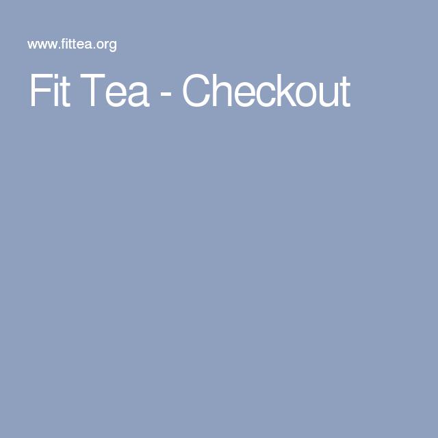 Fit Tea - Checkout
