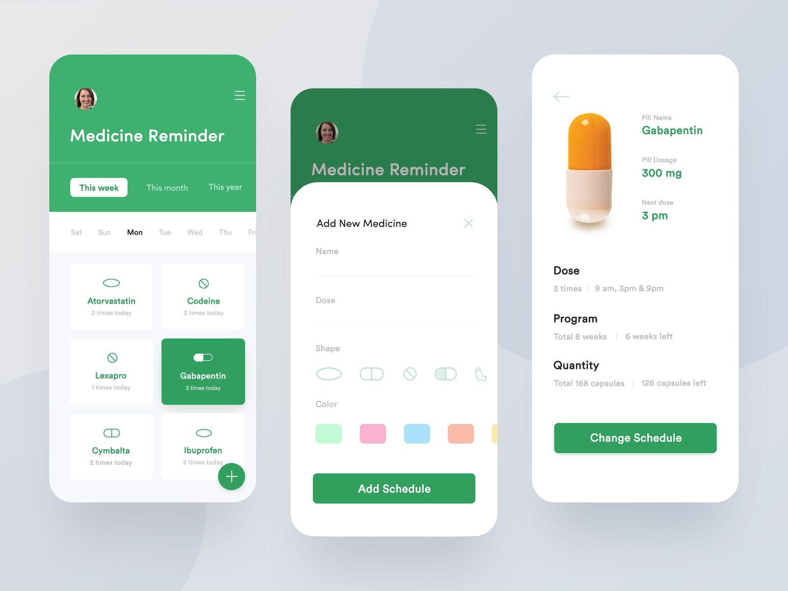 Medicine Reminder Application Design Application design