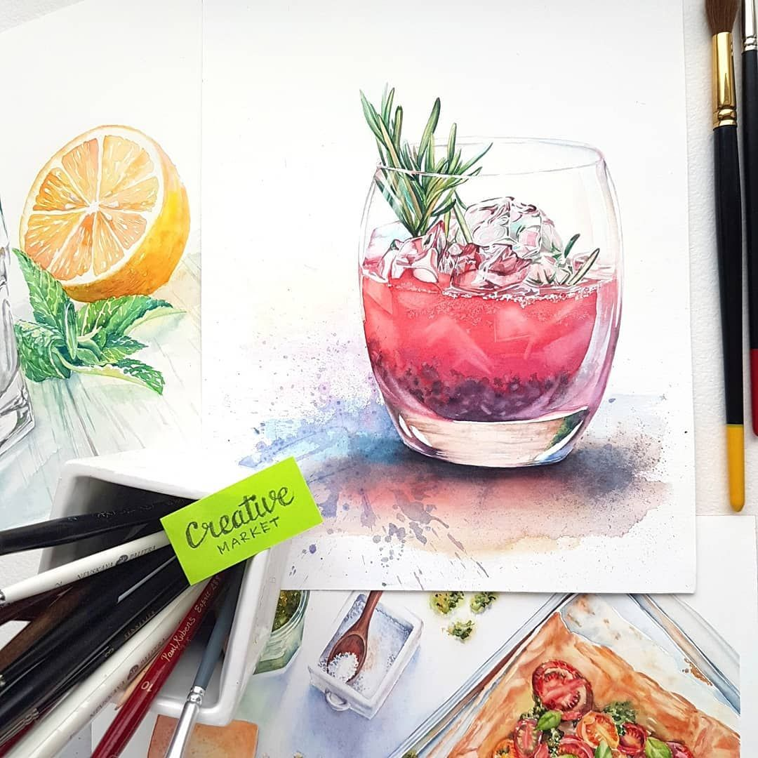 Watercolor Painting By Kateryna Savchenko Detailed Commercial